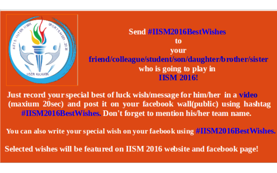 #IISM2016BestWishes